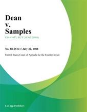 Dean V. Samples