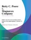 Betty C Poore V Magnavox Company
