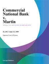 Commercial National Bank v. Martin