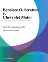 Berniece O Stratton V Chevrolet Motor