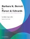 060294 Barbara K Berrett V Purser  Edwards