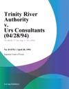 Trinity River Authority V Urs Consultants 042894
