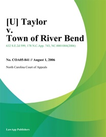 [U] TAYLOR V. TOWN OF RIVER BEND