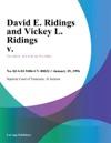 012996 David E Ridings And Vickey L Ridings V