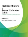 Fiat Distributors V James Hidbrader DBa