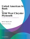 United American St Bank V Wild West Chrysler Plymouth