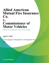 Allied American Mutual Fire Insurance Co. V. Commissioner Of Motor Vehicles