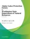 Alpine Lakes Protection Society V Washington State Department Of Natural Resources