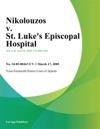 Nikolouzos V St Lukes Episcopal Hospital