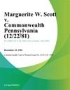 Marguerite W Scott V Commonwealth Pennsylvania