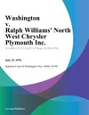Washington V Ralph Williams North West Chrysler Plymouth Inc