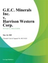 GEC Minerals Inc V Harrison Western Corp