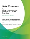 State Tennessee V Hobart Doc Barton