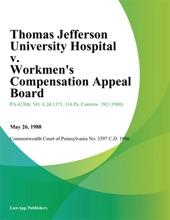 Thomas Jefferson University Hospital V. Workmens Compensation Appeal Board (Giordano)