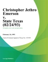 Christopher Jethro Emerson V State Texas 022493