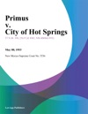 Primus V City Of Hot Springs