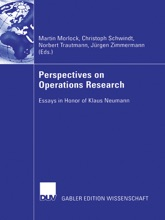 Perspectives On Operations Research