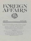 Foreign Affairs - Fall 1979