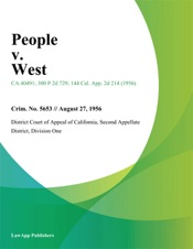 Download and Read Online People V. West