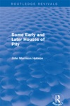 Some Early And Later Houses Of Pity Routledge Revivals