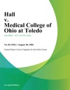Hall V Medical College Of Ohio At Toledo