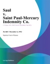 Saul V Saint Paul-Mercury Indemnity Co