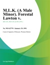 MLK A Male Minor Forestal Lawton V
