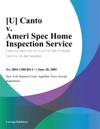 U Canto V Ameri Spec Home Inspection Service