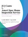 U Canto V Ameri Spec Home Inspection Service