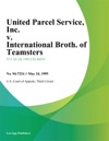 United Parcel Service Inc V International Broth Of Teamsters Chauffeurs Warehousemen And Helpers Of America Local Union No 430