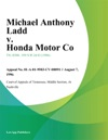 Michael Anthony Ladd V Honda Motor Co