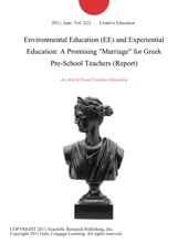 Environmental Education (EE) And Experiential Education: A Promising