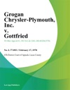 Grogan Chrysler-Plymouth Inc V Gottfried