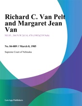 Richard C. Van Pelt and Margaret Jean Van