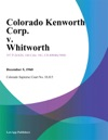 Colorado Kenworth Corp V Whitworth
