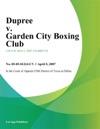Dupree V Garden City Boxing Club