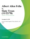 Albert Allen Fella V State Texas