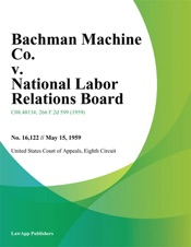 Download and Read Online Bachman Machine Co. v. National Labor Relations Board