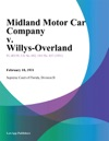 Midland Motor Car Company V Willys-Overland