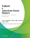 Talbott V American Isuzu Motors