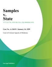Samples V. State