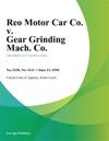 Reo Motor Car Co V Gear Grinding Mach Co