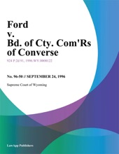 Ford V. Bd. Of Cty. Comrs Of Converse