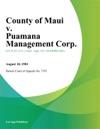 County Of Maui V Puamana Management Corp