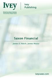 Download of Saxon Financial PDF eBook