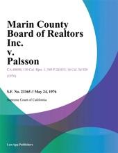 Marin County Board Of Realtors Inc. V. Palsson