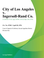 City of Los Angeles v. Ingersoll-Rand Co.