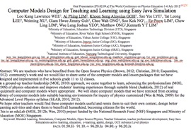 Computer Models Design For Teaching And Learning Using Easy Java Simulation