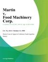 Martin V Food Machinery Corp