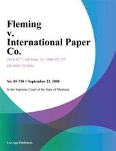 Fleming V. International Paper Co.
